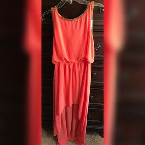 Sheer High low Dress 👗